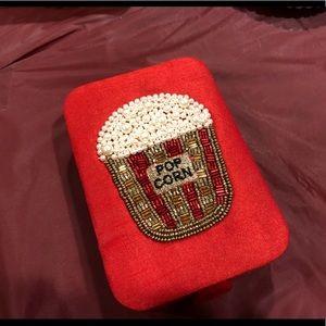 Accessories - Adorable NWT Fabric & Bead Popcorn Jewelry Box